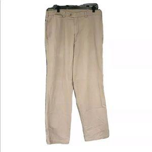 Savane Chino Pants 36x34 Cotton Pleated Zip Fly